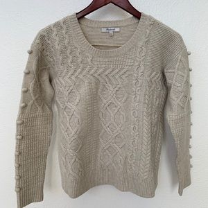 NWOT Madewell Open Side Bobble Pullover Sweater